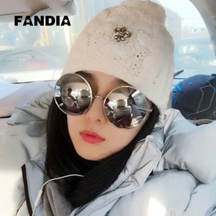 2015 new large box Fan Bingbing with super bright reflective sunglasses sunglasses sunglasses and round tide