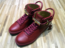 BUSCEMI 100MM spot 18 carat gold lock lock high shoes red 4 colors