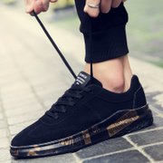 Men's casual shoes sports shoes all-match trend Korea boy students in the spring of 2017 new black shoes