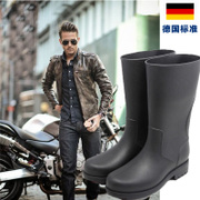 The M.assolato series of fashion in tube fishing leisure water boots overshoes male rubber boots shoes
