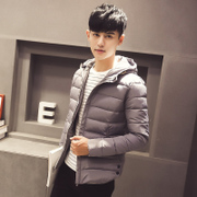 A young new season cotton thickened winter coat padded short tide male Korean slim men jacket