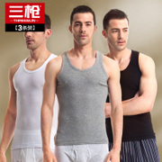 3 pieces of three guns vest men Xia Chunmian tight hurdle sports slim backing thin undershirt vest