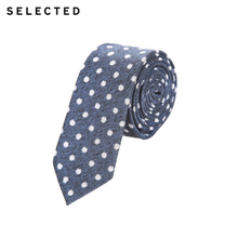 [800-80]SELECTED thread printing business casual tie A41711T501 NEW