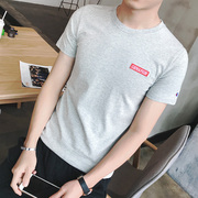 Men's short sleeved T-shirt Korean tide summer cotton t-shirt t-shirt t-shirt