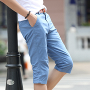 2 pieces of men's leisure pants shorts in summer five in the summer of 7 Korean cultivating seven beach breeches