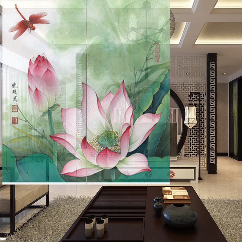 Chinese Style Curtains Are Made Of Semi Transparent Partition, Chinese  Painting Curtain, Rolling Curtain