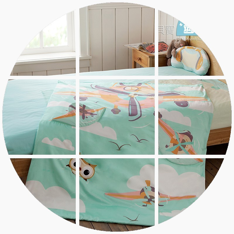 Sleep baby, baby bed product, cotton bed sheet, three piece set, cartoon children's pure cotton bed kit combination