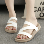 In summer, a new style of slippers, sandals, women's beach sandals, flat ladies, slippers, shoes and shoes