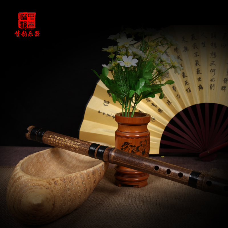 Glamour refined black bamboo flute bamboo flute master music-from professional learning factory direct specials