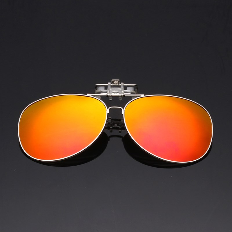 New sunglasses myopia clip Polarized Sunglasses colorful metal clip can be turned on by driving gemajing