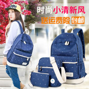 Winner Canvas Backpack female Japan Korea college students travel backpack printing junior high school students bag
