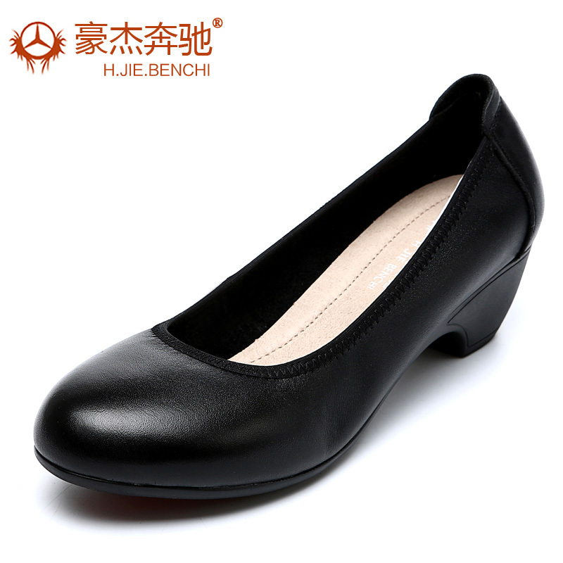 Head layer cowhide middle-aged women's shoes, 40, mom work 50 old mama 45 60 coarse documentary shoes with leather shoes