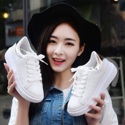 Korean tide in spring and summer sports shoes soled shoes white casual shoes shoes shoes breathable shoes female student network