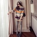 2016 autumn and winter new wave of women's Korean version of the loose sleeve sweater women in the long wool coat winter coat wild