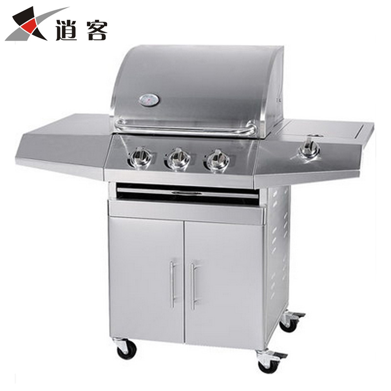 Commercial outdoors non smokeless stainless steel large number liquefied gas roasting gas stove multi function gas stove