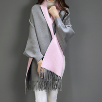 Female winter scarves shawls scarves dual female long Cape cloak of thick warm Cape coat in autumn and winter tide