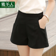 Summer Chiffon Korean wide leg shorts lady loose 2017 new a word all-match thin waist leisure pants