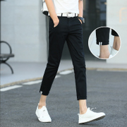 The New Summer Boys nine points pants, men's slim feet pants, casual pants, men's 9 points pants, Korean version of the trend thin 8