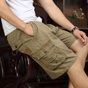 Summer cotton pants code middle-aged man father put in old casual shorts pants five big pants loose