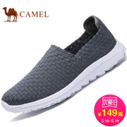 Camel/ camel shoes young fashion woven shoes men shoes set foot comfort lovers loafer