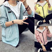 2017 new spring dress Korean Japanese loose jacket thin jacket coat both sides of the tide