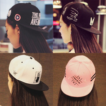 Female hip hop Hat Cap Baseball Cap summer Korean wave leisure male outdoor Hat hip hop dance Street flat-brimmed hat Cap