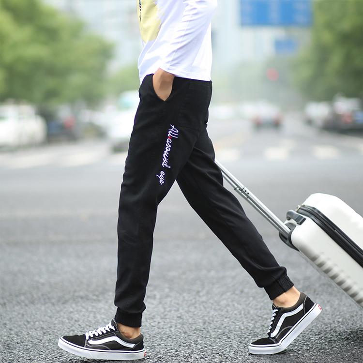 快手红人牌牌琦王冕老方丈同款裤子春季修身小脚裤社会精神小伙