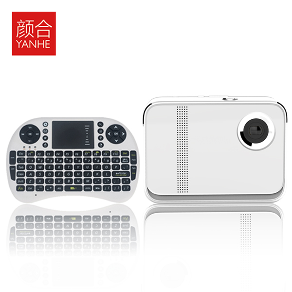 Yan He HD home Mini 3D LED smart micro portable projector 1080p projector Wireless WiFi