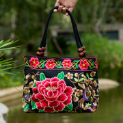 2017 new old women folk style embroidery embroidery canvas bag lady handbag bag