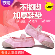 Skin head dance shoes children Kungfu shoes soft bottom adult children dancing girls Ballet Yoga cat shoes