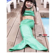 Children swimsuit girl mermaid princess dress clothing tail type split suit small children in Hot Springs