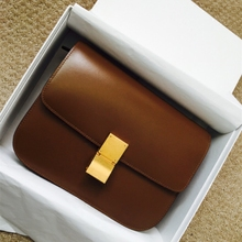 The new tide retro bean bag box mini small bag leather bag airline stewardess Shoulder Messenger Bag simple trumpet