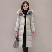 A season long down jacket, 2017 new large size Korean thickened knee Han Guochao slim treatment