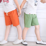 Children wear summer cotton shorts pants baby girls and boys pants pants five hot beach pants Leggings