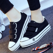 Spring Velcro canvas shoes women increased black shoes casual shoes all-match Korean shoes shoes' shoes
