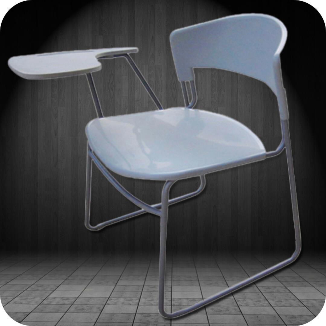 【木野】办公家具培训椅 带写字板会议椅 办公椅  塑料可叠落职员