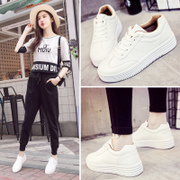 The foundation of white shoes shoes fall all-match thick white shoes 2017 Korean students leisure shoes in winter