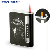 The focus of ultra-thin cigarette automatic cigarette ejecting windproof cigarette cigarette case with lighter creative protection box custom lettering