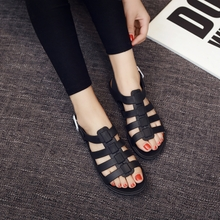 2017 new students, flat sandals, women's shoes, summer Korean version, plastic jelly, beach shoes, Rome shoes tide