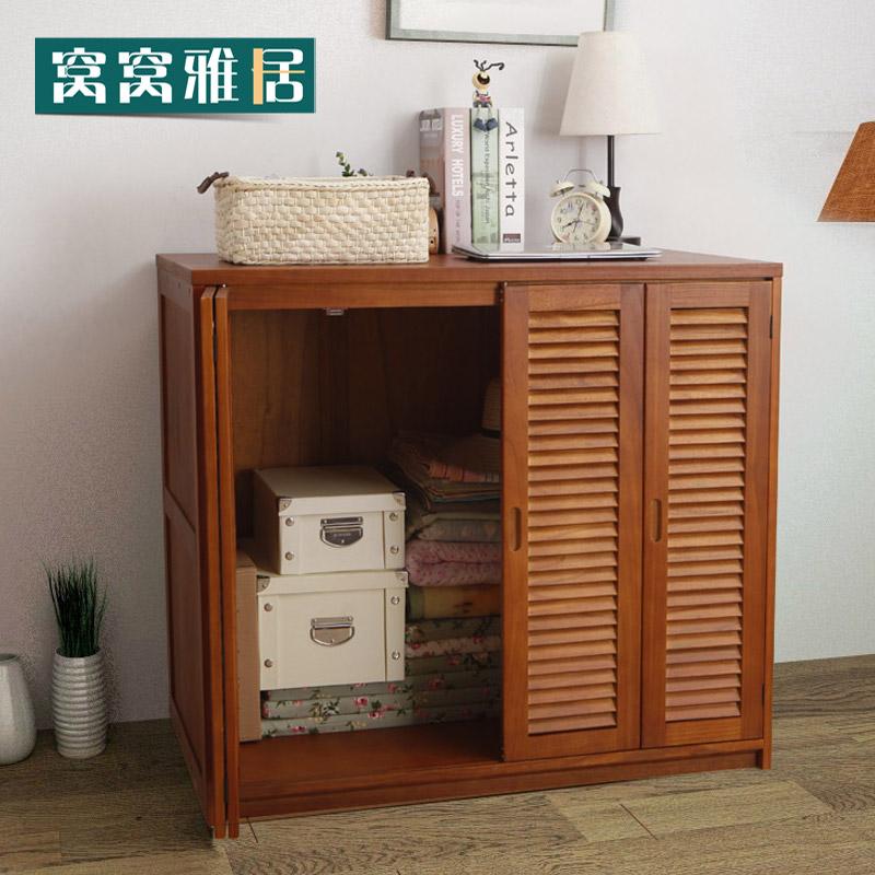 阳台储物大柜带门组合大容量棉被杂物收纳柜子实木简易被柜被橱