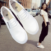 Spring and summer canvas shoes shoes slip on loafer Korean flat white shoe shoes casual shoes tide students