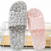 Hollow bathroom slippers female summer home lovers indoor anti slip bath plastic cold shower slippers summer