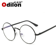 Anti radiation glasses frame fatigue computer and flat mirror blue eyes eye round glasses frame