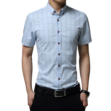 Summer men's short sleeve shirt with Collar Shirt Mens adult male mature 30-35-40 year old clothes box