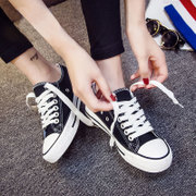 Ins super fire shoes flat chic canvas shoes female Korean wind autumn student ulzzang all-match Harajuku cloth shoes