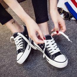 2018春季新款平底小白帆布女鞋板鞋原宿韩版百搭学生ulzzang布鞋