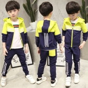 Kids Boys spring set 2017 new children sports leisure spring two sets of Korean tide clothing 9-10
