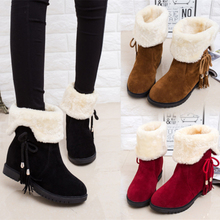 Autumn and winter snow boots female boots shoes slip flat with cashmere thickened short canister boots warm two women wear shoes boots
