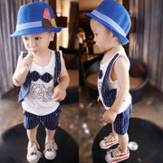 In the summer of 2017 male and female children 0-1-2-3-4 years old baby suit vest semi cotton sleeveless clothes tide
