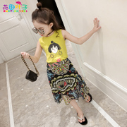 The female's summer suits children 2017 new children in the summer of two Korean girl's skirt is tide